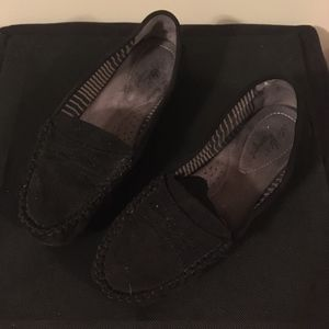 Dex Flex Black Loafers/Mocassins